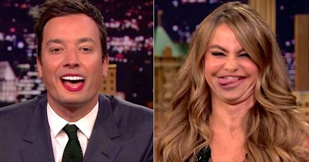 Jimmy Fallon And Sofia Vergara Switch Lips And Then Things Get Weird